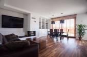 Wooden floor in cozy interior — Stock Photo
