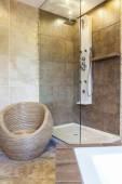 Photo of shower tub in modern bathroom — Foto Stock