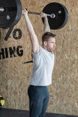 Man and weightlifting — Foto de Stock