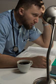 Medical student before exams — Stock Photo