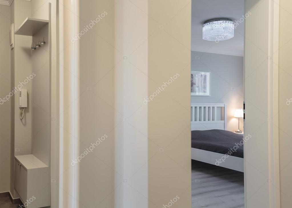 open door to bedroom stock photo 75147257