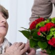 Bouquet on golden anniversary — Stock Photo #75246999