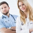 Couple of young doctors — Stock Photo #75249855