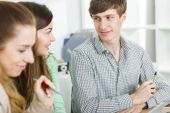 Positive atmosphere in work — Stock Photo