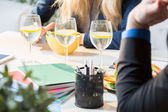 Business lunch at work — Stock Photo