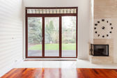 Living room with big window — Stock Photo