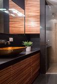 Designed new bathroom — Stock Photo