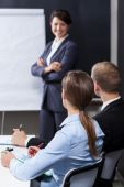 Listeing the lecture — Stock Photo
