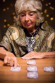 Tarot reader telling someones fortune — Stock Photo