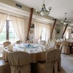 Elegant hotel restaurant — Stock Photo #77995206