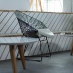 Designed chair in modern restaurant — Stock Photo #78843394