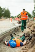 Смертельные травмы на рабочем месте — Стоковое фото