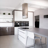 Piante d'appartamento in esclusiva cucina — Foto Stock