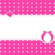 Baby girl shower card with place for text. — Stock Vector #57894425