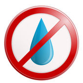 No water sign. Vector illustration. — Stock Vector