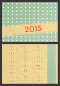 Pocket calendar in cute retro style with dots. — Stock Vector