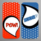 Pair of mobile phone covers in comic style.  — Stock Vector