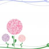抽象花背景. — 图库矢量图片