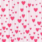 Seamless hearts pattern. — Stock Vector