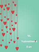 Alla hjärtans dag presentkort. — Stockvektor