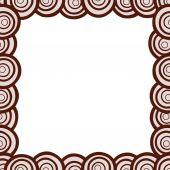 Hand-drawn circles frame — Stock Vector