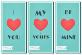 Happy Valentine's Day Cards Set — Vetor de Stock