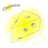 Abstract vector decorative cheese sketch. — Stock Vector