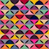 Abstracte geometrische naadloze patroon met veelkleurige vormen. — Stockvector