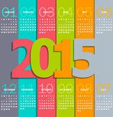 Simples calendário de 2015 — Vetor de Stock