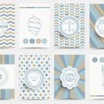 Set of brochures in vintage style — Stock Vector #69682495
