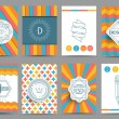 Set of brochures in vintage style — Stock Vector #69682497