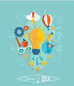 Conceptual representation of an idea — Stock Vector