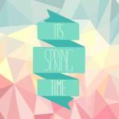 Inscription of It's spring time — 图库矢量图片