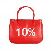 Sale bag design element isolated on white — Stockfoto