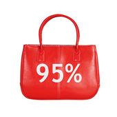 Försäljning väska designelement isolerad på vit — Stockfoto