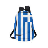 Greece flag backpack isolated on white — Stock Photo