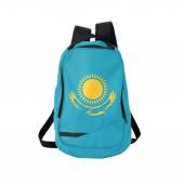 Kazakhstan flag backpack isolated on white — Stock Photo