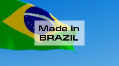 Gemaakt in Brazilië — Stockvideo