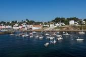 Port of Sauzon at Belle Ile in France — Stock Photo