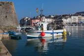 Belle-Ile-en-Mer, France - September 8, 2014: Port of Palais wit — Stock Photo
