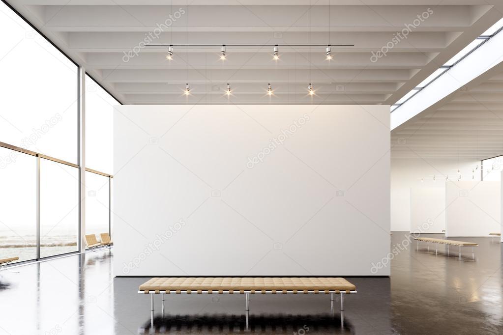 Exposition moderne galerie photos espace ouvert blanc for Le vide interieur