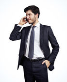 Young businessman on the phone — Stock Photo