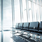 Empty clean airport interior — Stock Photo