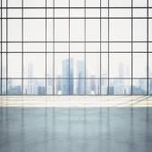 Otevřený plán interiér s panoráma — Stock fotografie