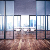 Empty contemporary office interior — Stock Photo