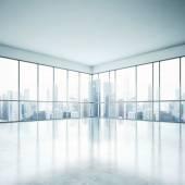 Ufficio di piano aperto bianco — Foto Stock