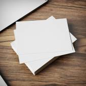 Blank business cards — Stock Photo