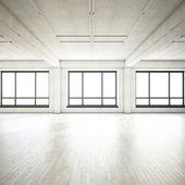 Empty bright loft — Stock Photo