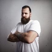 Brutal bearded man — Stock Photo
