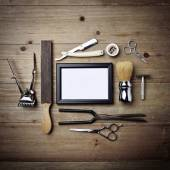 Vintage tools of barber shop — Stock Photo